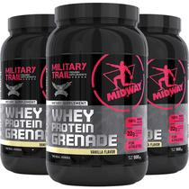 Kit 3 whey protein grenade midway 900g baunilha