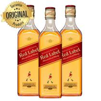 Kit 3 Whisky Importado Johnnie Walker Red Label 500ML 8 Anos