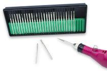 Kit 30 Brocas Diamantadas Lixadeira Unha Acrigel Manicure - Arte Sedução