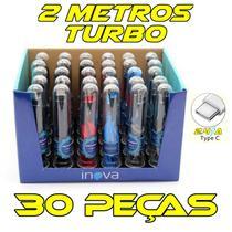 Kit 30 Cabos Tipo C  no tubete CABO REFORÇADO original INOVA -