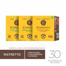 Kit 30 Cápsulas Café Expressus Ristretto Diversos Variados -