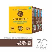 Kit 30 Cápsulas De Café Expressus Ristretto Brasileiro -
