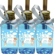 Kit 30 Lembrancinhas Maternidade - Ursinho Menino Arte Fixa 42ml MBA Fita Azul Claro - ClickStock