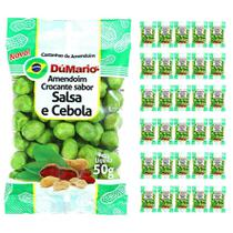 Kit 30 Pacotes Amendoim Crocante Sabor Cebola Salsa 50 gramas - Amendoim dumario
