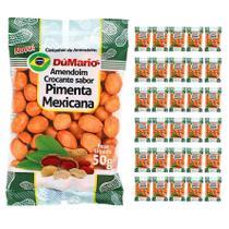 Kit 30 Pacotes Amendoim Crocante Sabor Pimenta Mexicana 50 gramas - Amendoim dumario