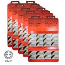Kit 300 Lâminas Wilkinson Gillette Barbear p/ navalha Cartela C/ 60 Un cada) -