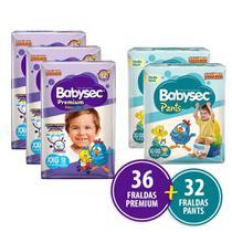 Kit 36 Fraldas Babysec Premium Xxg + 32 Babysec Pants Xg/Xxg -
