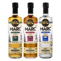 Kit 3un Cachaça MARC Carvalho Am. Blend, Amburana e Clássica - Marc Destilaria