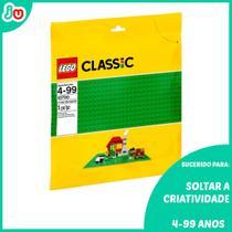 Kit 3un Lego Classic 10700 Base Verde Criativo 32x32cm -