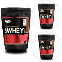 Kit 3x 100 Whey Gold Standard 1 lb - Optimum Nutrition