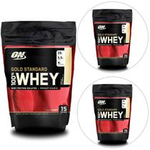 Kit 3x 100% Whey Gold Standard 1 lb - Optimum Nutrition