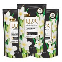 Kit 3X 200ml Sabonete Líquido Lux Botanicals Capim Limão e Frangipani Refil -