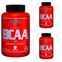 Kit 3x Amino BCAA Top 120 Cáps Body Size - IntegralMédica -
