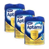 Kit 3x Aptamil Premium 3 Leite Em Pó Infantil 800g 10+ Meses - Danone