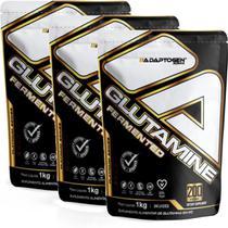 Kit 3x Glutamina Platinum Series 1kg Adaptogen Importada Imunidade -