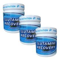 Kit 3x Glutamina Science Recovery 300g Performance Nutrition -