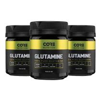 Kit 3x Glutamine 100% Pure 100g - Core Nutrition -