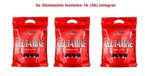 Kit 3x Glutamine Isolates Refil 1k (3000 kg) Integral Medica. -