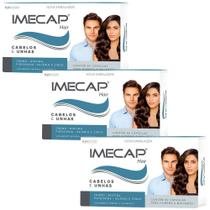 Kit 3x Imecap Hair Com 60 Cápsulas - Max Titanium