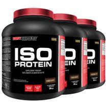 Kit 3x Iso Protein 2kg Chocolate - Bodybuilders -