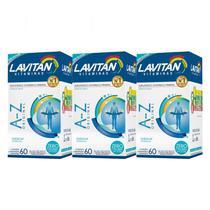 Kit 3x Lavitan A-Z 60 Cápsulas Multivitamínico Minerais - Cimed