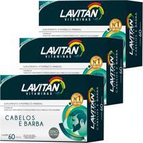 Kit 3x Lavitan Cabelos e Barba 60 Cápsulas - Cimed