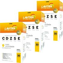 Kit 3x Lavitan CDZSE Mais Imunidade 30 Comprimidos - Cimed -