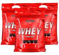 Kit 3x Nutri Whey Chocolate 907g Whey Protein Concentrado Isolado Integralmédica -
