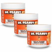 Kit 3X Pasta de Amendoim - 500g Chocolate Branco com Whey Isolado - Dr. Peanut -
