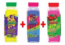 Kit 3x Slime Juice Suco Fruta 265g Morango Banana Tuti-Fruti - Clio Pets