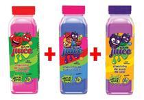 Kit 3x Slime Juice Suco Fruta 265g Morango Uva Tutti-Frutti - Clio Pets