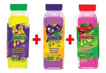Kit 3x Slime Juice Suco Frutas 265g DTC Uva Banana Morango - Clio Pets