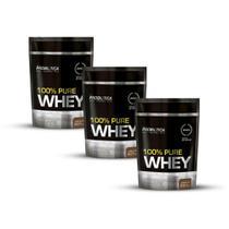 Kit 3x Whey Protein 100% Pure Whey Probiótica Refil 825g -