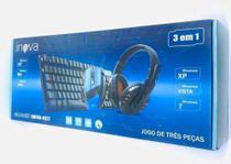 Kit 3x1 Gamer - Teclado, Mouse e Headset Inova KMFON - 6527 -