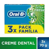 Kit 3x70g Creme Dental Oral-B Extra Fresh - Oral B -