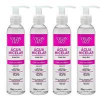 Kit 4 Água Micelar Ácido Hialurônico Limpeza Facial 5 Em 1 200ml - Vegan Lizz