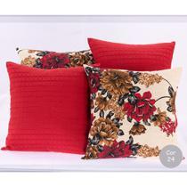 Kit 4 Almofadas Decorativas Cheias Sala e Sofa Com Ziper - Enxovais Cr