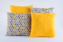 Kit 4 Almofadas Jacquard Decorativas Sala Sofa Estampa 117 - Alessandra Enxovais