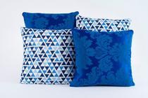 Kit 4 Almofadas Jacquard Decorativas Sala Sofa Estampa 130 - Alessandra Enxovais