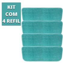 Kit 4 Almofadas Refil Microfibra Vassoura Mop Spray Esfregão Boni -