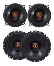 Kit 4 Alto Falantes Triaxiais JBL Flex3 6TRFX50 + 5TRFX50 100 Watts Rms - Kit De Produtos