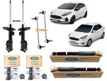 Kit 4 Amortecedor New Fiesta 2010 a 2019 Novo Ka 2014 a 2019 Com Coxins Batente Bieletas Original - Ford Cofap Monroe