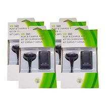 Kit 4 Baterias Carregadores Play/charge Controle Xbox 360 - Feir