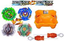 Kit 4 Beyblade Burst + Arena Beyblade + Lançadores - Hasbro -