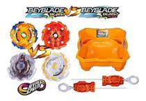 Kit 4 Beyblade Burst X Rise 2 Lançador Arena Beyblade Hasbro -