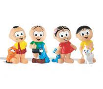 Kit 4 bonecos de vinil turma da monica-líder brinquedos - Lider