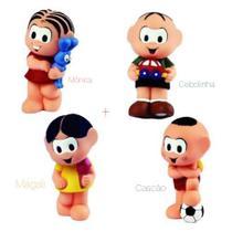 Kit 4 bonecos mordedor para bebê turma da mônica - mônica cebolinha magali cascão latoy - La Toy