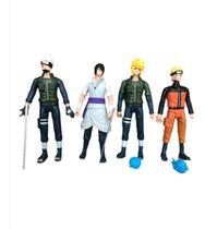 Kit 4 Bonecos Naruto Com Led E Acessorios Articulados 14cm Lançamento! -