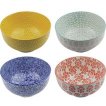 Kit 4 Bowls/Cumbuca De Porcelana Decorativo 16CM HP0001 - Btc