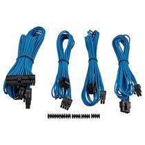 Kit 4 Cabos Para Fonte Corsair CP-8920147 Sleeved Azul -